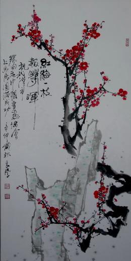 画如春诗寒梅开 龙舞瑞雪新岁来-----春首寄语; 有关春节的诗配画图片